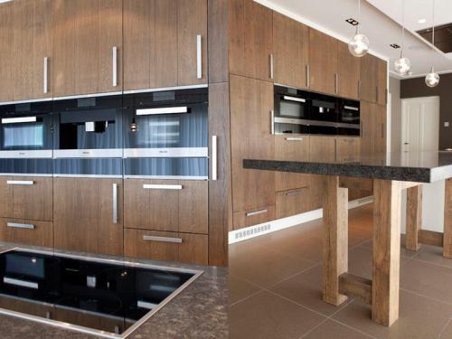 Keuken op maat van hout